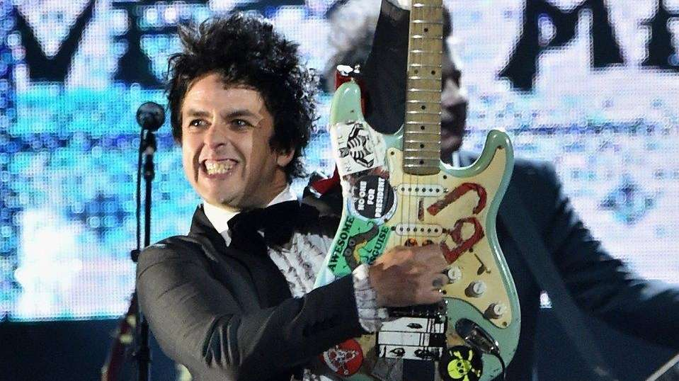 Billie Joe Armstrong of Green Day performs at