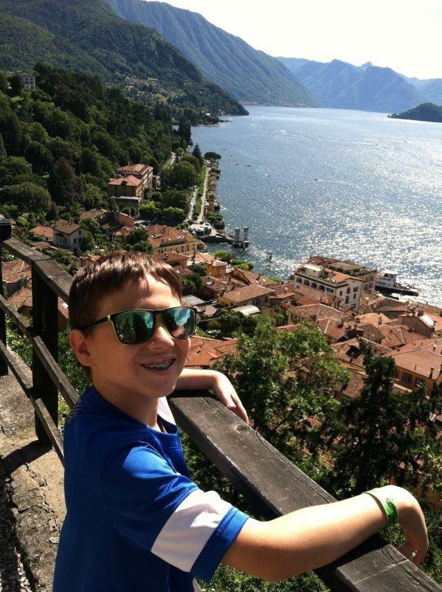 Mikko Minerva taking in the view of Bellagio