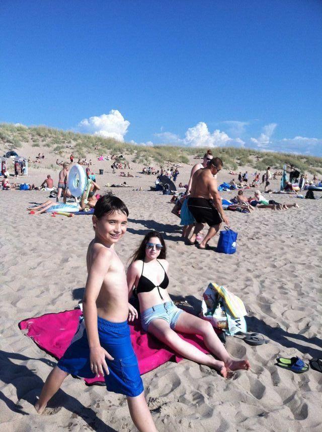Siblings Mikko and Katja Minerva enjoying a day