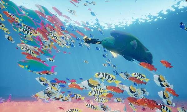 Abzu centers on postcard-worthy imagery -- swarming, silver
