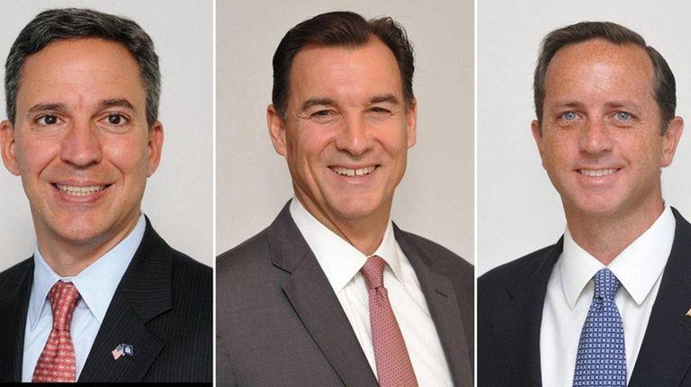 From left, Jack Martins, Thomas Suozzi and Philip