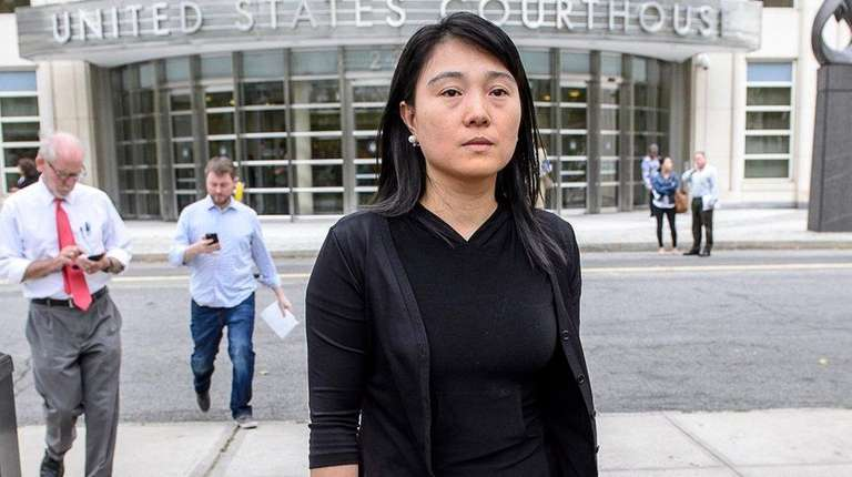 Ying Lin, of Flushing, Queens, leaves court Tuesday