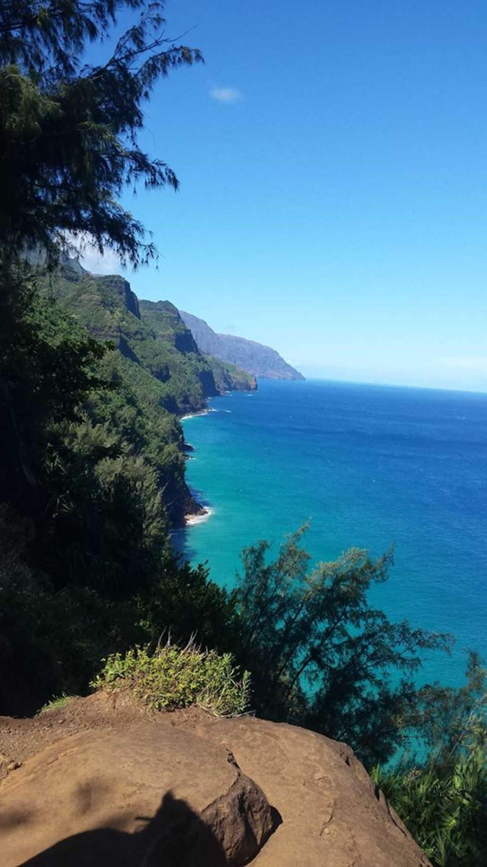 Hiking to Hanakapiai Beach on the Napali Coast,