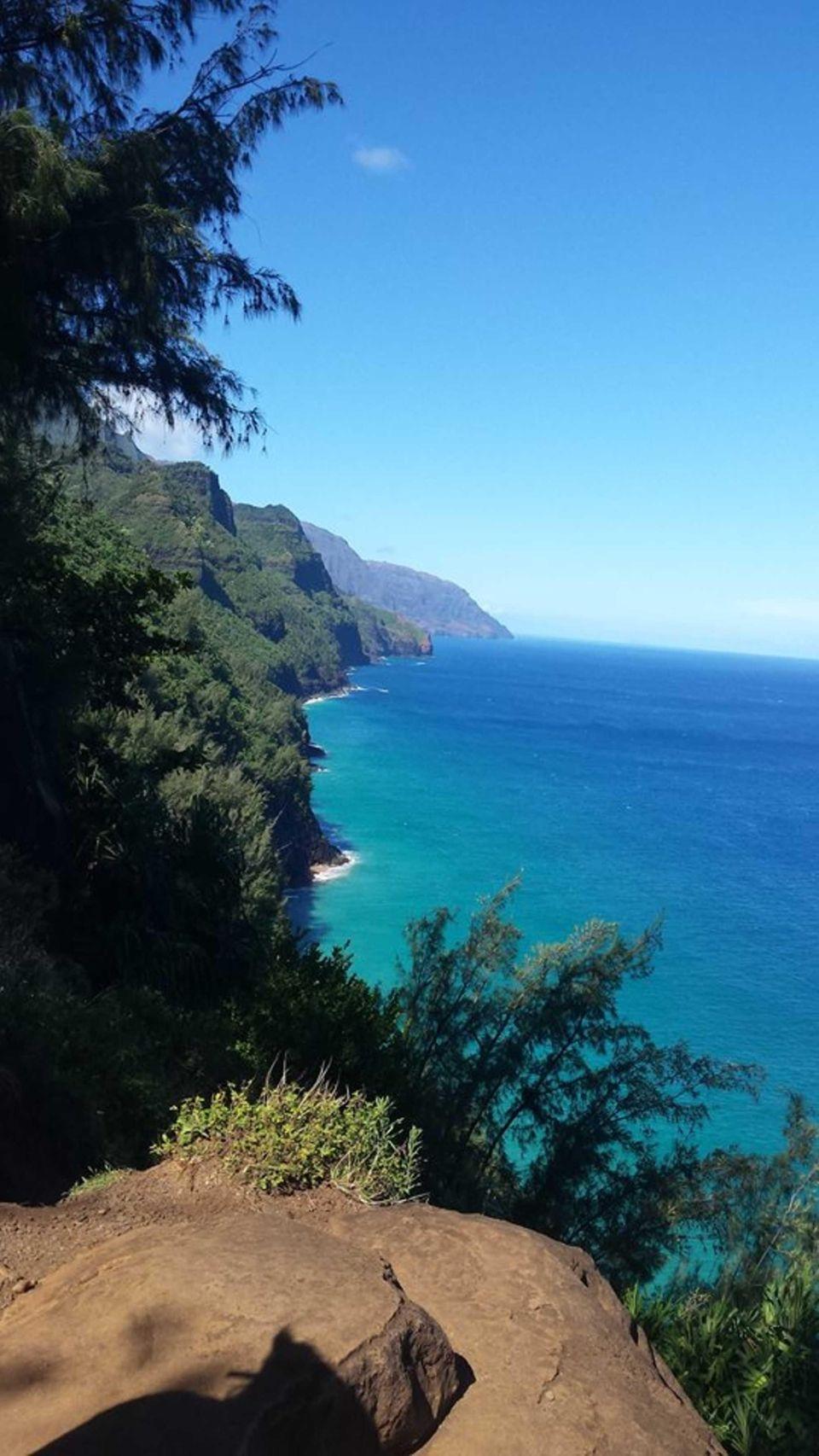 Hiking to Hanakapiai Beach on the Napali Coast,