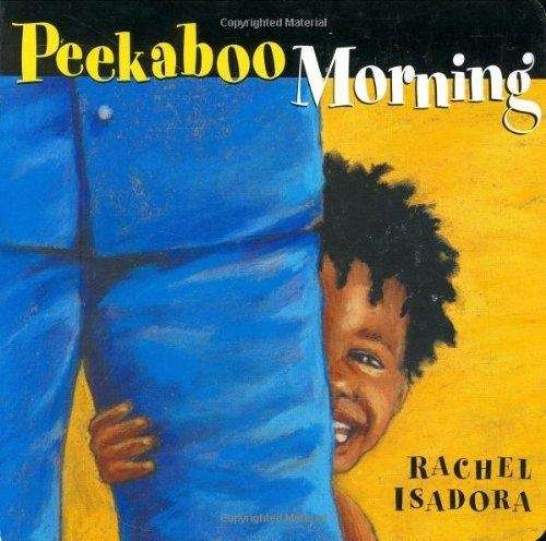Join a toddler as he plays peekaboo with