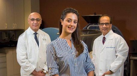 Dana Feldman with Dr. Homayoun Sasson and Dr.