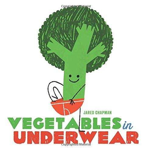 A comical and rhyming story about veggies wearing
