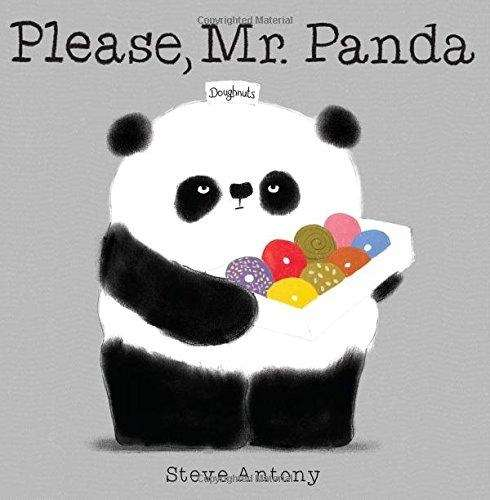 Armed with doughnuts, Mr. Panda wants to share
