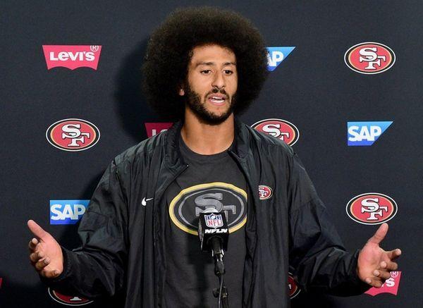 Colin Kaepernick of the San Francisco 49ers speaks