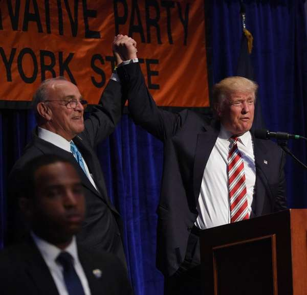 Donald Trump with New York State Conservative Party