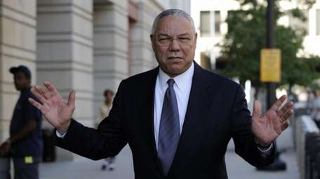 Former Secretary of State Colin Powell is seen