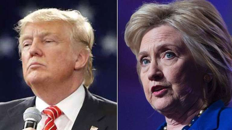 Republican presidential candidate Donald Trump and Democratic presidential