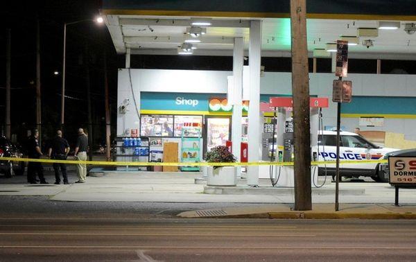 Nassau County police respond to the scene of