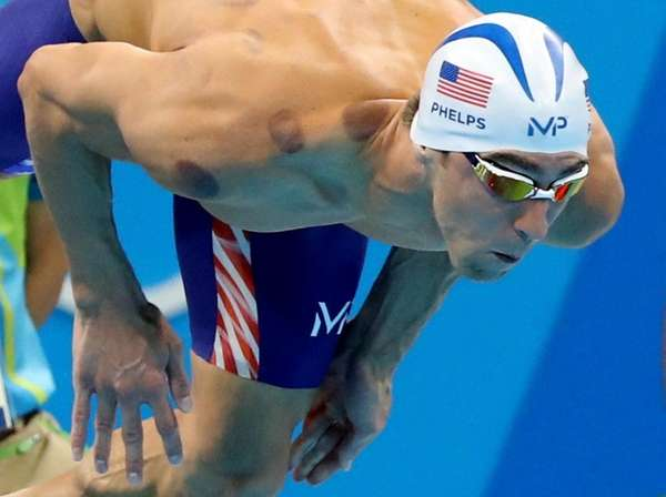 United States' Michael Phelps competes in a heat