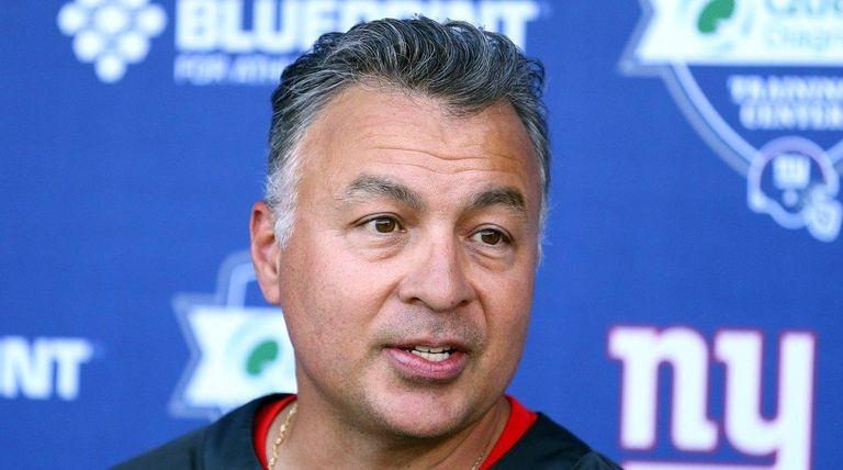 New York Giants offensive coordinator Mike Sullivan speaks