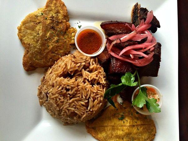 The popular Haitian dish, griot -- crispy pork