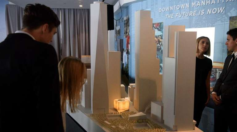 People look at a model of the Ronald