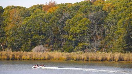 Peconic River in Riverhead as seen on Oct.