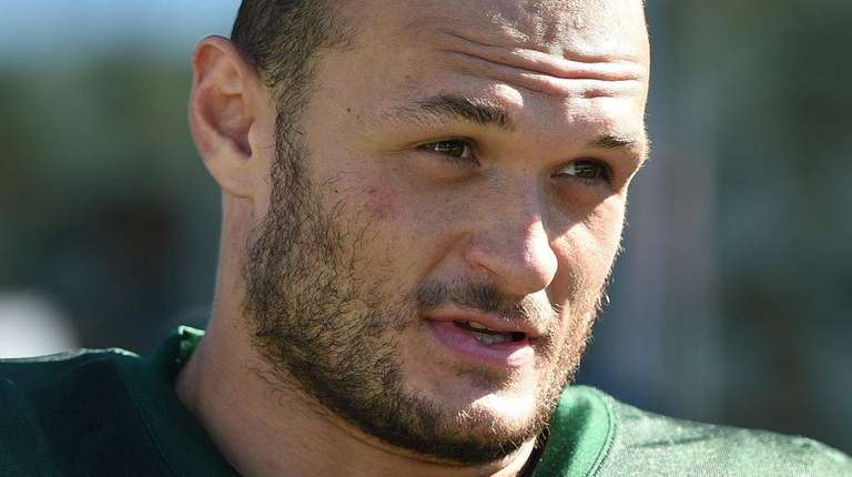 New York Jets defensive end Mike Catapano speaks