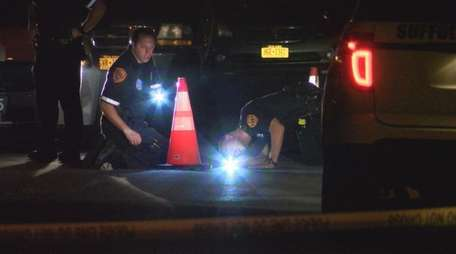 Suffolk County police investigate after a man was