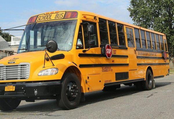 Baumann buses transport children from Lee Avenue Elementary