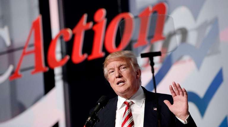 Republican presidential nominee Donald Trump speaks at the
