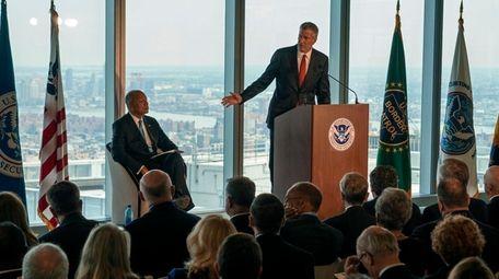 New York City Mayor Bill de Blasio thanked