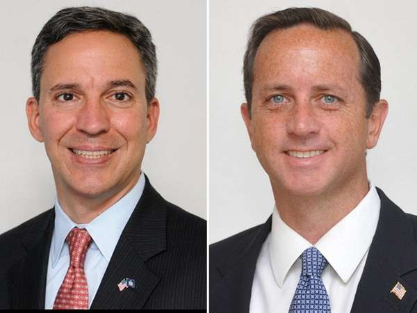 Republican candidate Philip Pidot, right, slammed 3rd Congressional