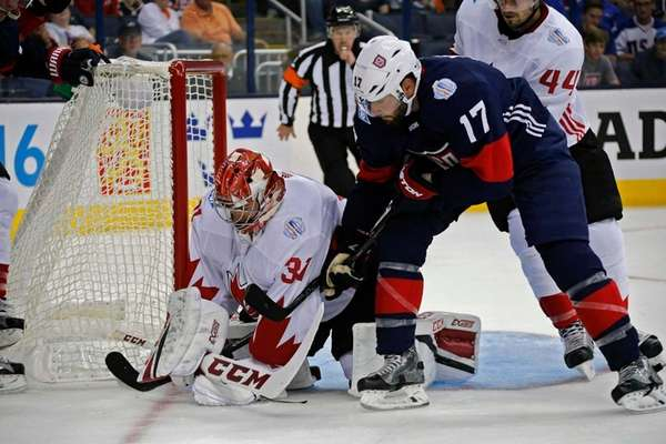 Team Canada's Carey Price (31) makes a save