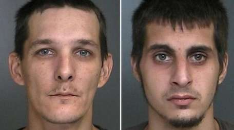 William Stepnowski, 38, left, and Louis Parisi, 25,