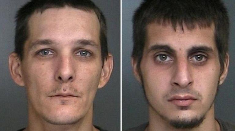 William Stepnowski, 38, left, and Louis Parisi, 25,