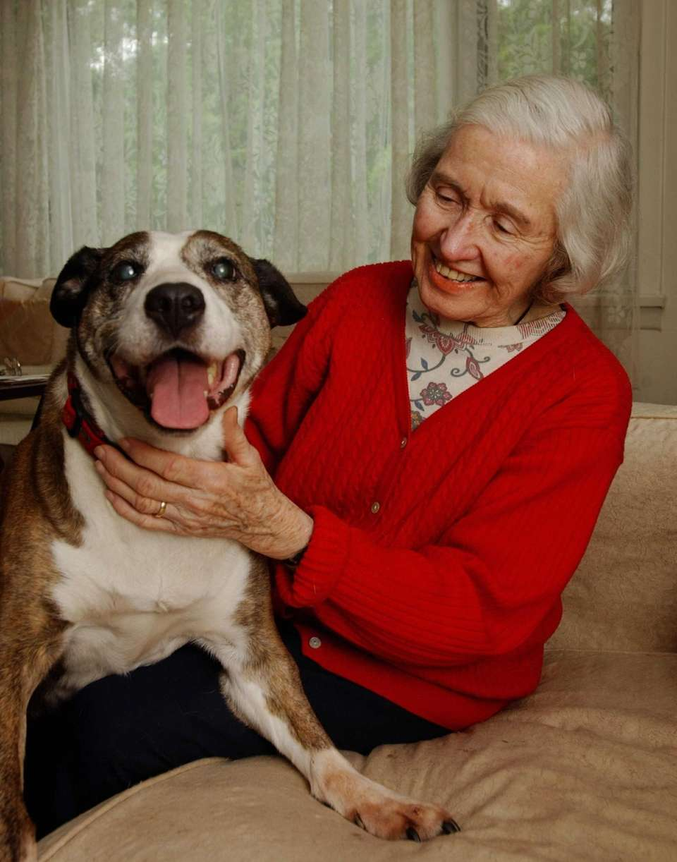 Joan Maguire had adopted a new dog, Foxy,