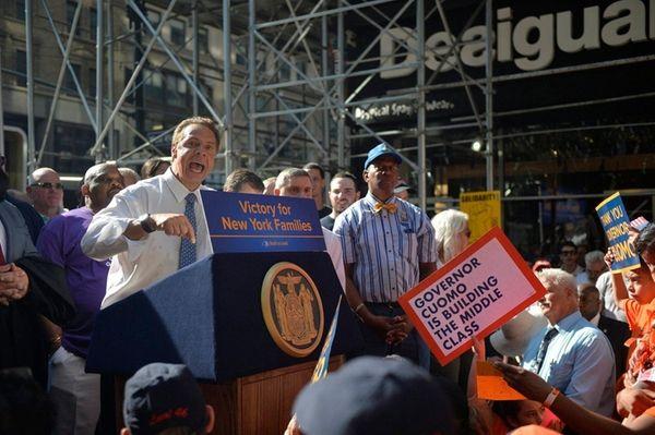 Gov. Andrew M. Cuomo addresses labor leaders and