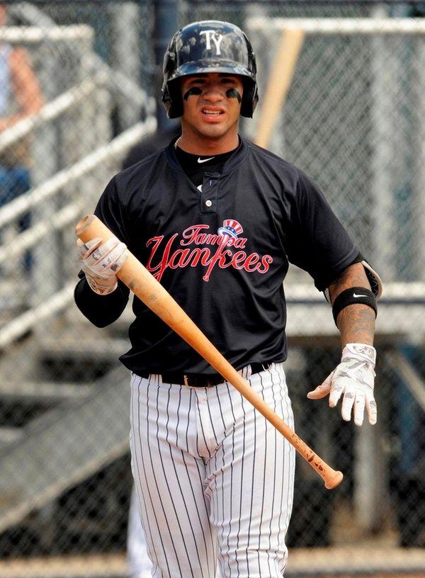 Tampa Yankees shortstop Gleyber Torres during a Florida