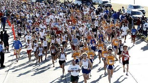 The start of the Long Island Marathon. (May