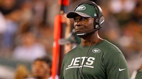 New York Jets coach Todd Bowles watches the
