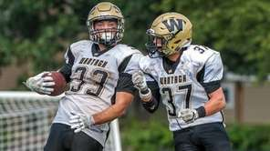 Wantagh's Jimmy Joyce, left, and Anthony D'Onofrio celebrate