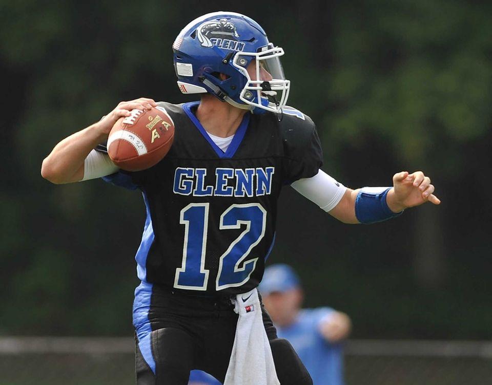 Glenn quarterback Kyle Tiernan #12 throws a pass