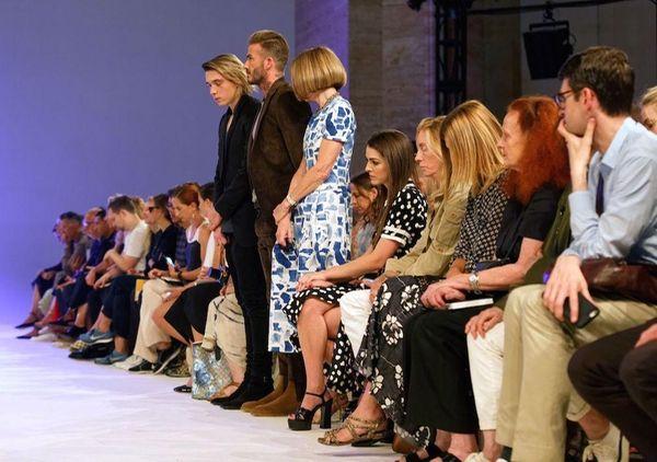 At Victoria Beckham's NYFW runway show on Sunday,