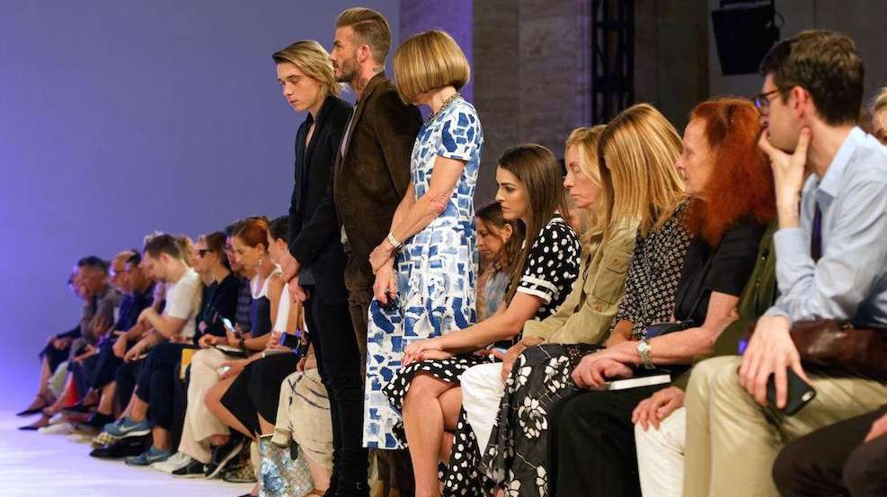 At Victoria Beckham's NYFW runway show on Sunday,