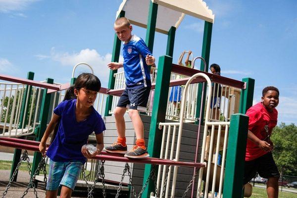 From left, fifth-graders Lilyanna Driscoll, 9, Aidan Jennings,