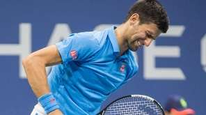 Novak Djokovic feels some pain during his match