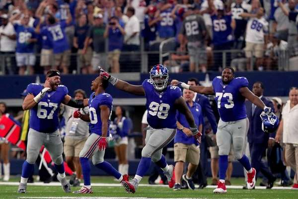 Justin Pugh #67 of the New York Giants;