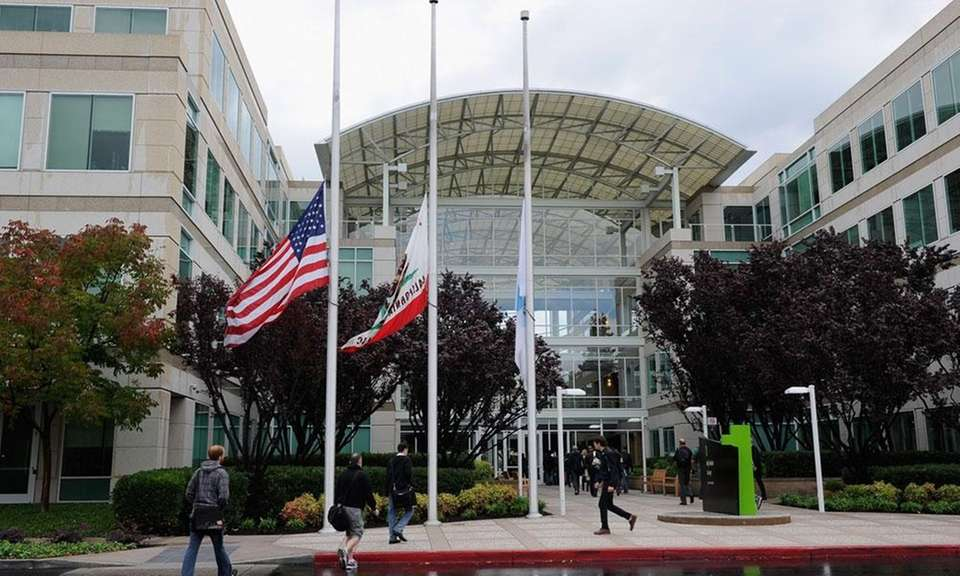 Since 1993, Apple has been headquartered at 1-6