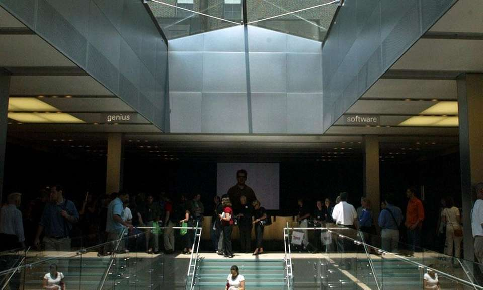 The company opened its first Apple Store in