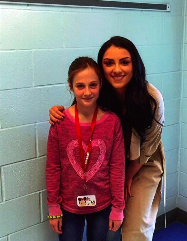 Kidsday reporter Julia Wachsmuth with former