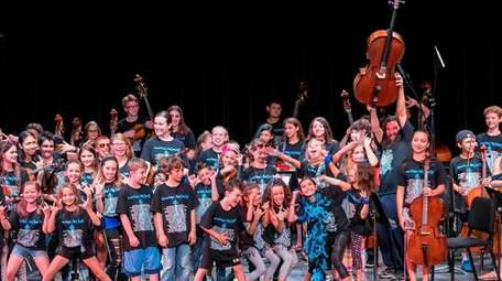 The SummerStrings! Rockestra, an orchestra made up of