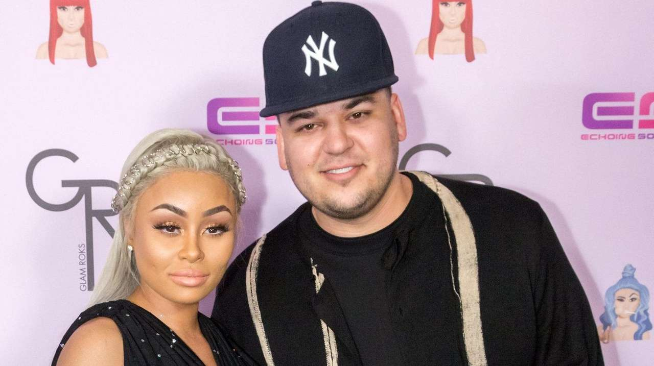 Blac Chyna and Rob Kardsashian at an event