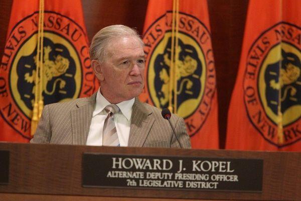 Legis. Howard Kopel is seen at a meeting