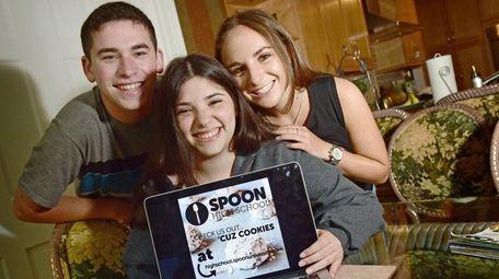 From left, Matthew Gillam, Lauren Peller and Hallie